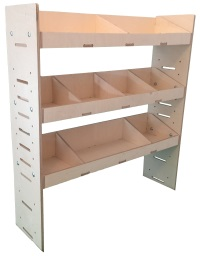 Van Plywood Shelving and Racking Storage System 1087mm x 1000mm x 269mm - BVR1010263