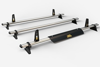 3 Bar Heavy Duty Roof Bars For The Swb Low Roof Vauxhall Vivaro Oct 2014 Onwards Van VG315-3